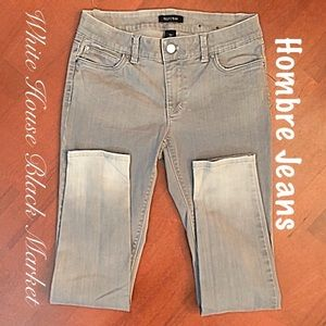 💋WHBM Gray Hombre skinny leg Jeans worn once 6R